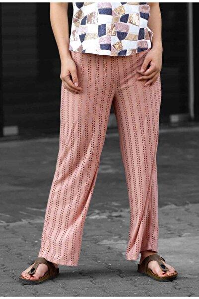 Madmext Mad Girls Pudra Delikli Astarlı Pantolon Mg381