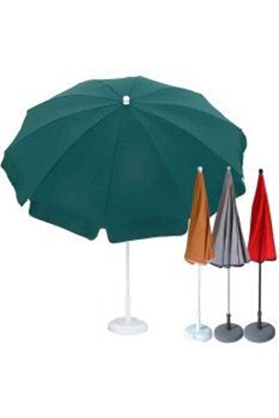 Tevalli Gölgelik Şemsiye 2 Metre Plaj Balkon Bahçe Teras Şemsiyesi