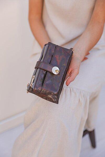 Shule Bags Kadın Bakır Metalik Kitli Cüzdan 1092