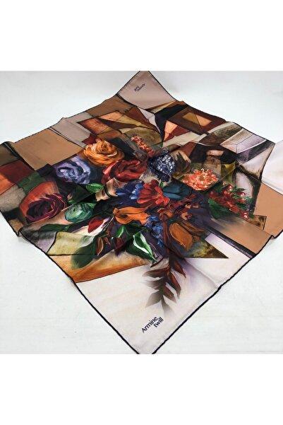 Armine Çiçek Desen Twill Eşarp
