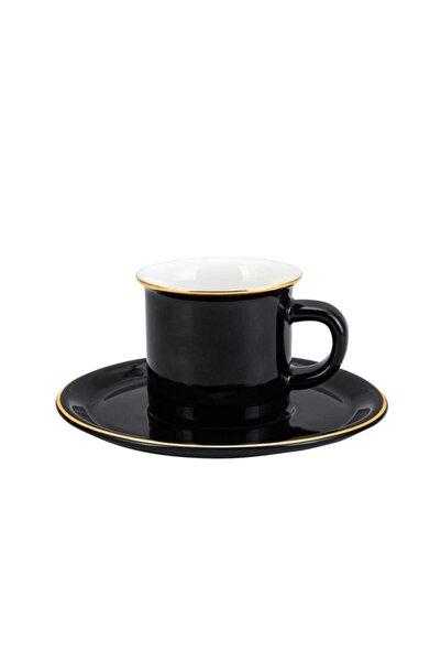 Siyah Kısmet 6 Kişilik Kahve Fincan Takımı