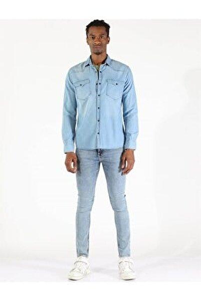 Twıster Jeans 1704-09 Erkek Çıtçıtlı Çift Cepli Kot Gömlek
