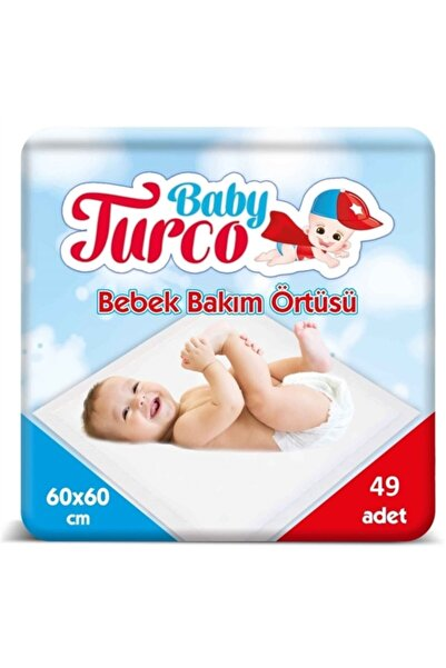 Baby Turco Bebek Bakım Örtüsü 60x60 Cm 49 Adet Bebek Bakım Örtüsü 60x60 Cm 35 Adet