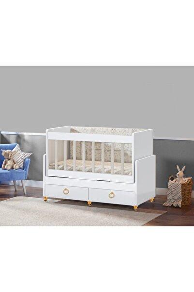 Bygolden Gold Sallanır Anne Yanı Bebek Beşiği Pembe Uyku Setli