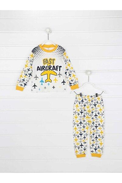 Modakids Sarı Erkek Çocuk Pijama Takımı