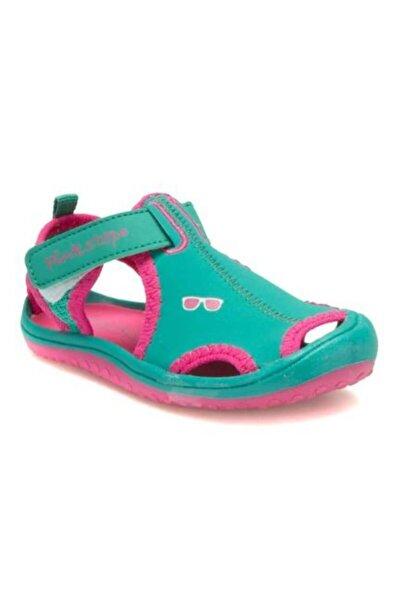 Pinkstep Pink Step Jüpiter-4 Yeşil Kız Çocuk Cırtlı Sandalet