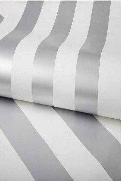 Design Time Gümüş Rengi Çizgili Duvar Kağıdı (5 M²)  1911