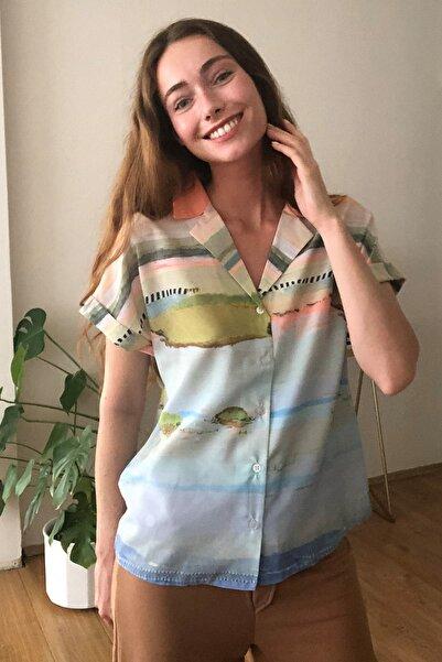 Çok Renkli Baskılı Gömlek TWOSS20GO0549