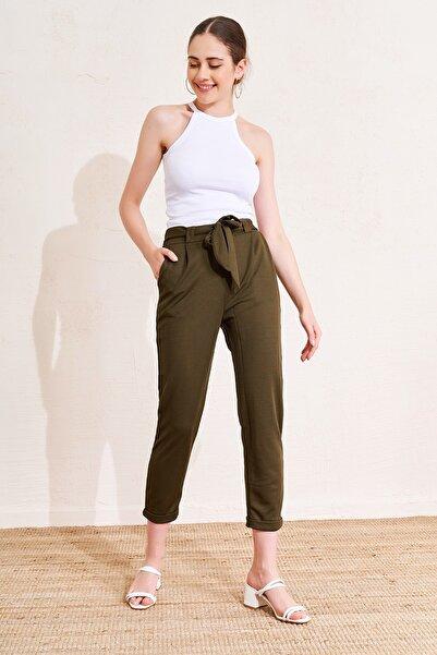 Eka Beli Lastikli Bağcıklı Pantolon