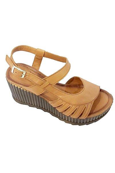 Riccardo Colli Kadın Sarı Hakiki Deri Sandalet 2004