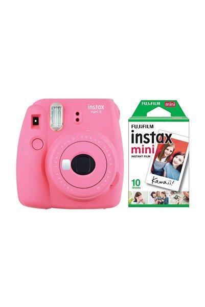 Fujifilm Instax Mini 9 Pembe Fotoğraf Makinesi & 10'lu Film