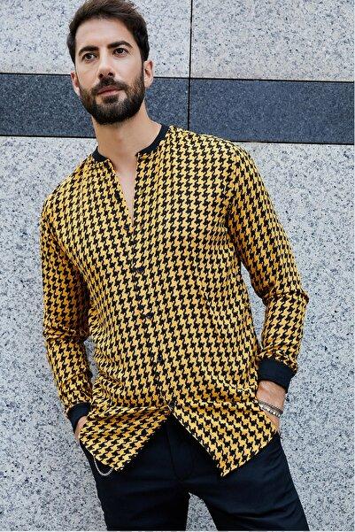 Sateen Men Erkek Safran Ribanalı Gömlek
