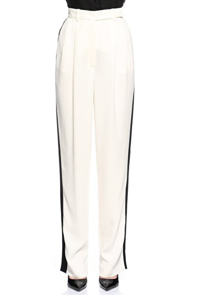 Lanvin Yüksek Bel Ekru-Siyah Pantolon