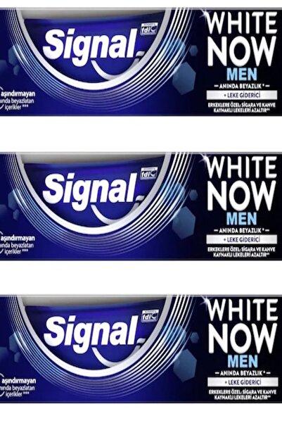 Signal White Now Men Diş Macunu 75 ml X 3 Adet