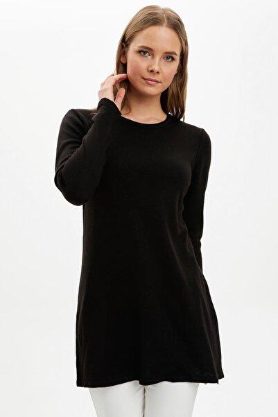DeFacto Kadın Siyah Triko Tunik H3431AZ.20AU.BK27