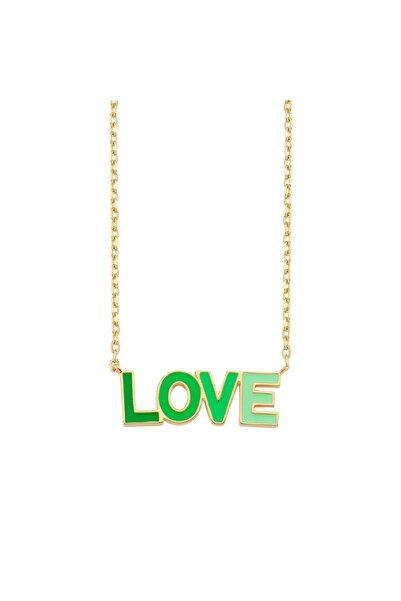 Luzdemia Yeşil Love Kolye