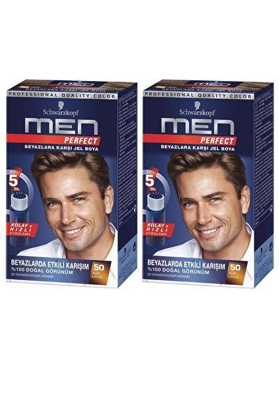 SCHWARZKOPF HAIR MASCARA Perfect Men 60 Kahve Saç Boyası X 2 Adet