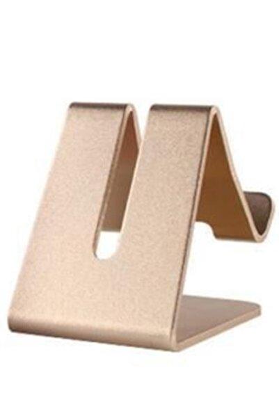 Masaüstü Metal Stand Telefon Ve Tablet Standı Dock ( Gold )