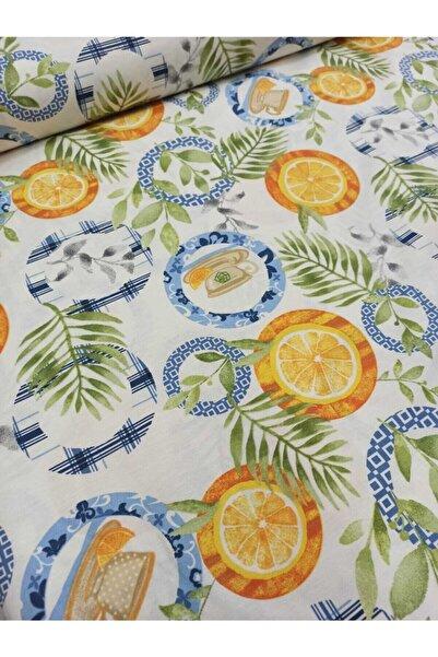 Yuka Yu & Ka Home Yaprak Portakal Desenli Duck Kumaşı