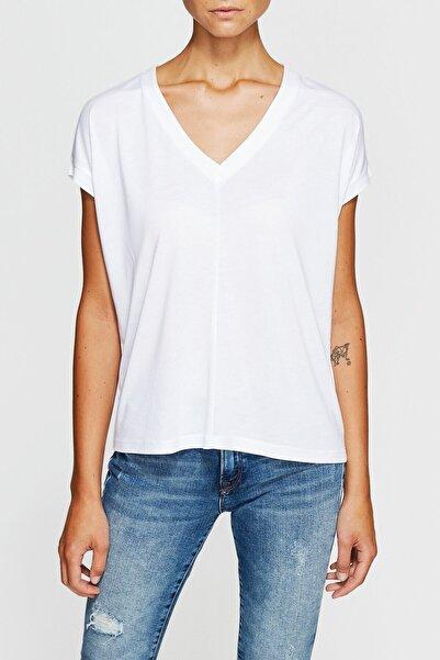 Kadın Basic V Yaka T-shirt 166449-620