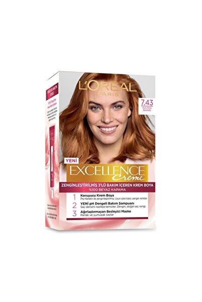 Saç Boyası - Excellence Creme 7.43 Sultan Bakırı 3600522214519