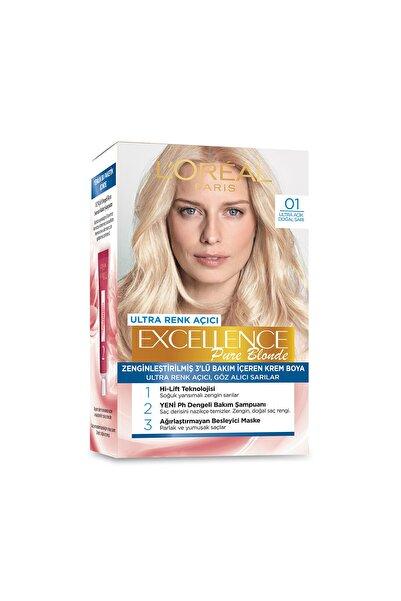 Saç Boyası - Excellence Pure Blonde 01 Ultra Açık Doğal Sarı 8690595357225