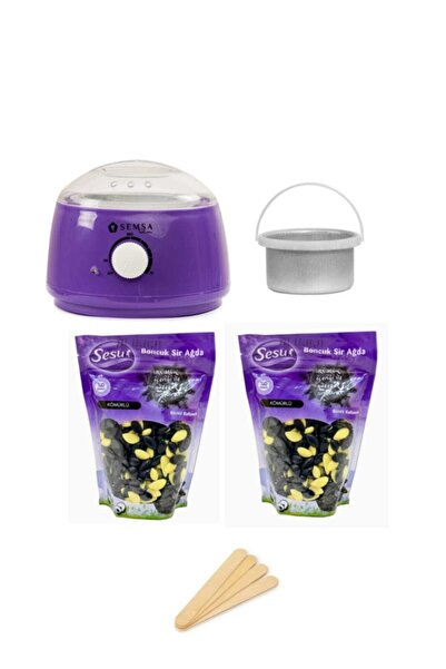 Sesu Inci Boncuk Ağda Peeling Etkili 2 Adet Cezveli Ağda Makinesi Set