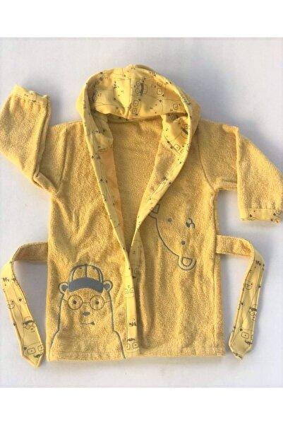 Bebitof Baby Baby Boss Hardal Unisex Çoçuk Bornozu