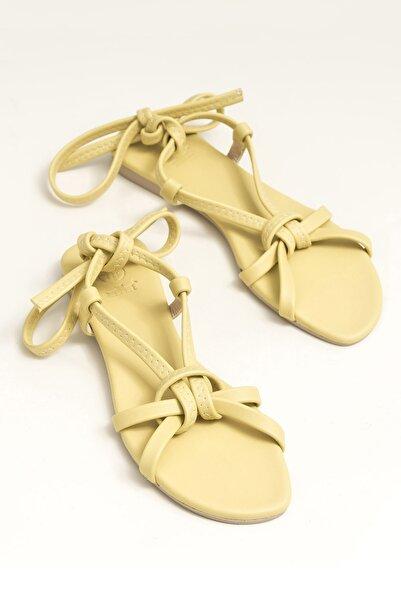 Elle Shoes Ina Sarı Kadın  Sandalet 20YDS54131