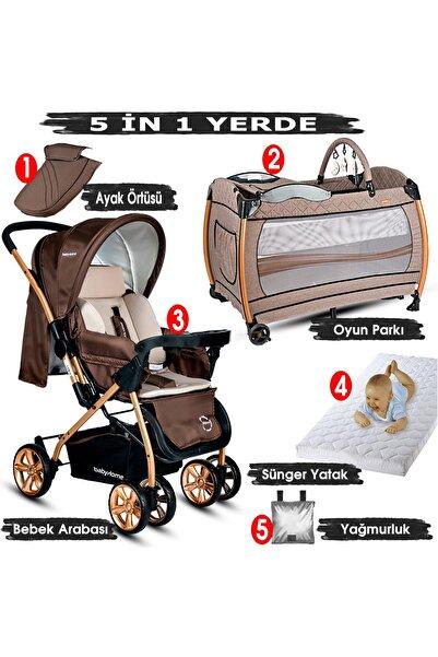Baby Home 760 Çift Yönlü Bebek Arabası + 600 Nanny Bebek Oyun Parkı Yatak Park Beşik