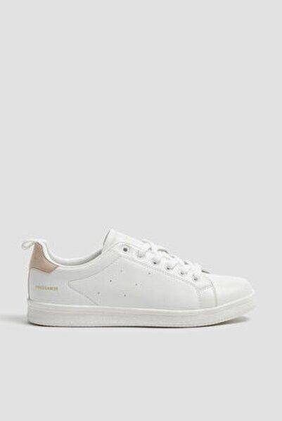 Kadın Beyaz Çekme Kayış Detaylı Basic Spor Ayakkabı 11201640