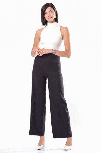 İroni Kadın Siyah Geniş Paça Pantolon H31735-1220