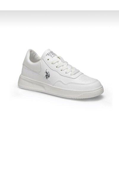 U.S. Polo Assn. Unisex Beyaz Bağcıklı Ayakkabı