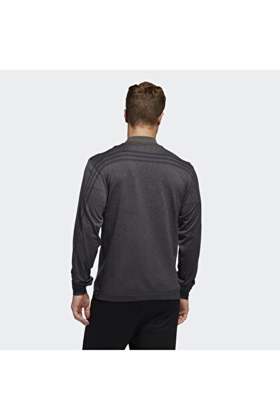Erkek Gri Primeknit 3 Stripes  Sweatshirt