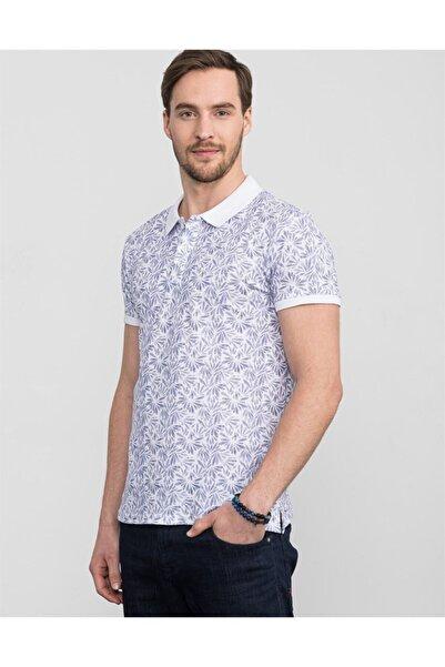 Tudors Erkek Polo Yaka Slim Fit Baskılı T-Shirt