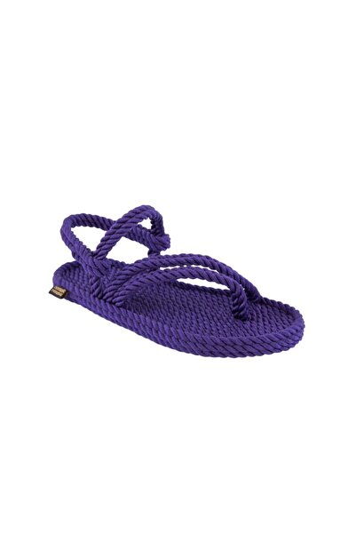 Nomadic Republic Cancun Kadın Halat & Ip Sandalet - Mor