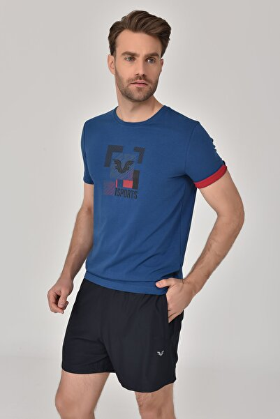 Lacivert Erkek T-Shirt GS-8807