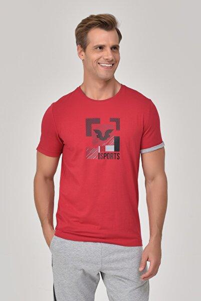 bilcee Kırmızı Erkek T-Shirt GS-8807