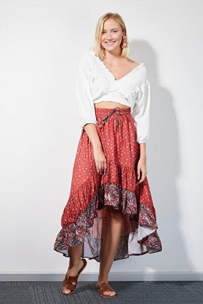4Sisters Fashion Kadın Eteği Büzgülü Etnik Çan Etek