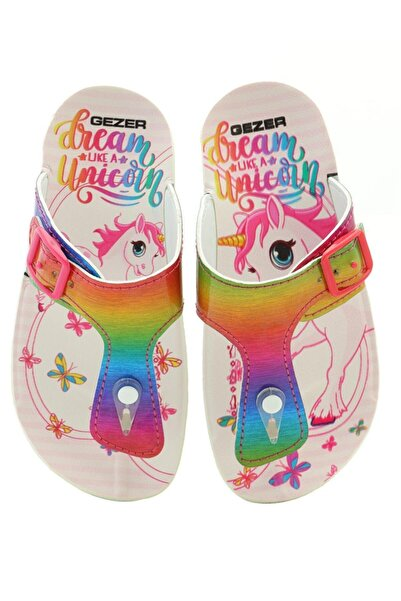 Unicorn Rainbow Renkli Kız Çocuk Parmak Arası Terlik