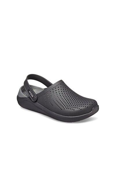 Crocs LiteRide Clog Erkek Terlik & Sandalet - Black/Slate Grey (Siyah/Barut Gri)