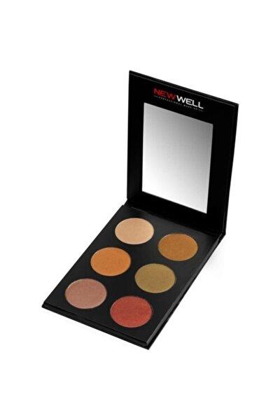 New Well Eyeshadow 6 Renkli Palet N:51 18 gr