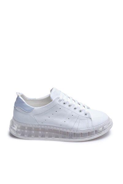 Tanca Beyaz-Mavi Kadın Sneaker  201Tck373 107