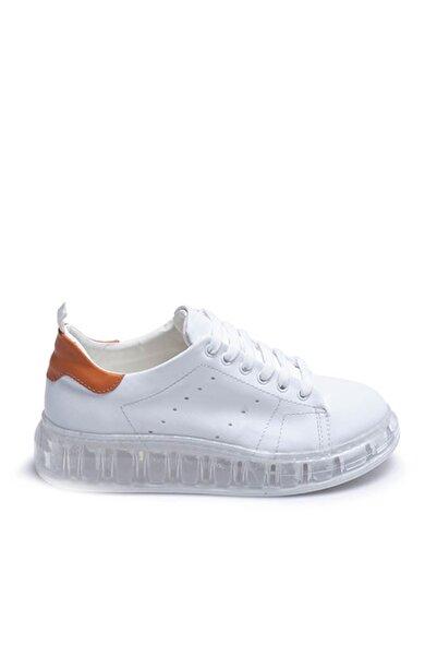 Tanca Beyaz-Turuncu Kadın Sneaker  201Tck373 107