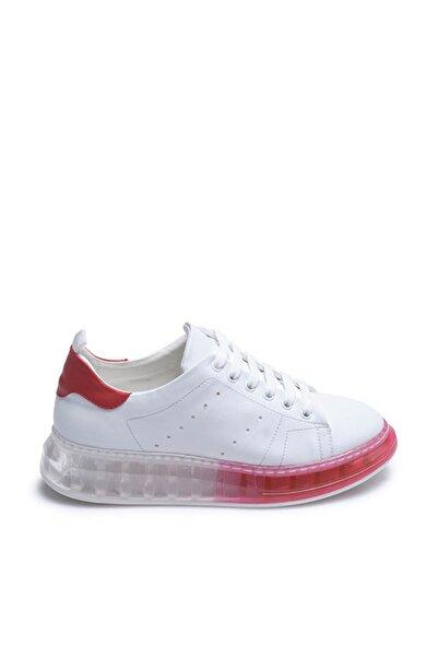 Tanca Beyaz-Kirmizi Kadın Sneaker  201Tck373 107