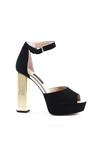 ROUGE Siyah Suet Kadın Klasik Ayakkabı  201Rgk277 1599