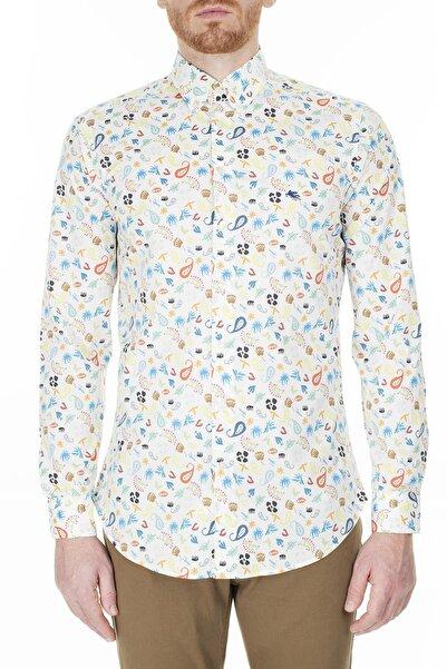 ETRO Erkek Beyaz Slim Fit Gömlek 1k964 4783 990