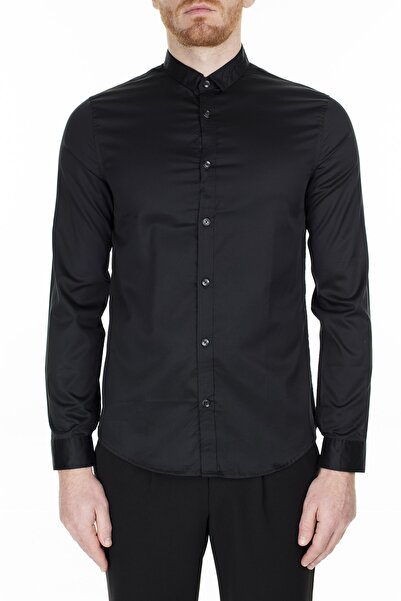 Armani Exchange Erkek Siyah Slim Fit Gömlek 3hzc14 Znauz 1200