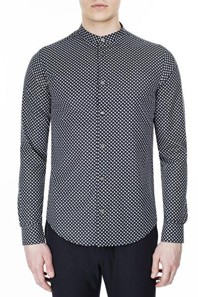 Emporio Armani Erkek Siyah Slim Fit Gömlek 3h1c78 1n88z F902