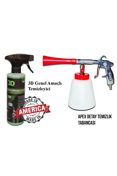Apex Detaylı Temizlik Tabancası Ve 3d Genel Amaçlı Temizleyici